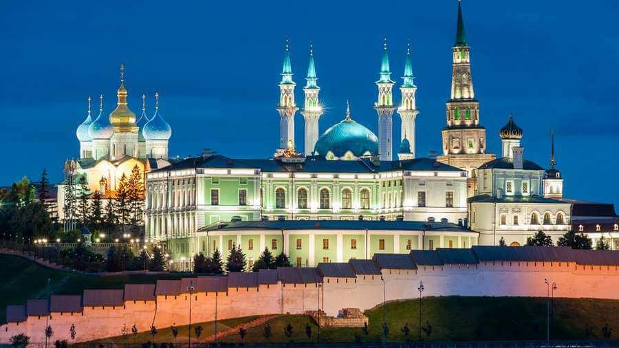 вид на кремль ночью