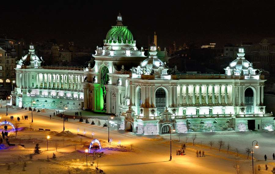подсветка дворца