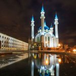 Fairy night lights of Kazan