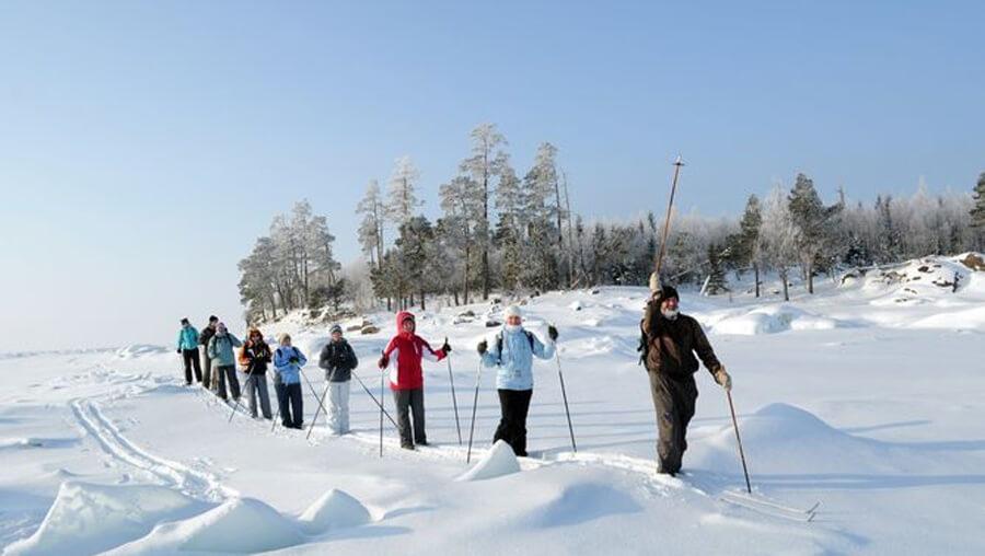 прогулки на лыжах